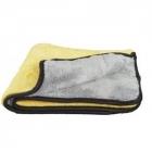 Chemical Guys MAX ręcznik z mikrofibry szaro - żółty - 45x38cm