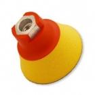 Flexipads Talerz mocujący 75mm z rzepem M14 25mm pianka Soft-żółty (10390)