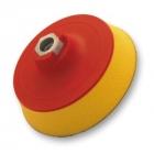 Flexipads Talerz Mocujący 125MM z Rzepem Gwint M14 Soft-Żółty