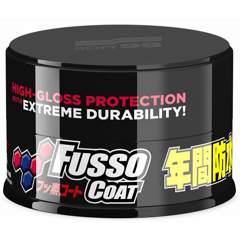 SOFT99 NEW Fusso Coat 12 Months Wax - powłoka - ciemne lakiery 200g - NOWA EDYCJA