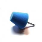 Stożek polerski 60mm twardy - niebieski