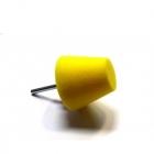 Stożek polerski 60mm bardzo twardy - żółty