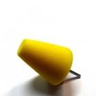 Stożek polerski 80mm bardzo twardy - żółty