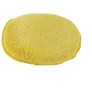 WaxPro Aplikator z mikrofibry żółty 12cm