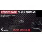 Essenti Care Black Diamond Rękawiczki Nitrylowe L 100szt
