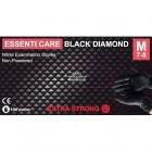 Essenti Care Black Diamond Rękawiczki Nitrylowe M 100szt