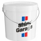 Shiny Garage białe wiadro 20L z pokrywką