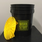 WORK STUFF Detailing Bucket Black - RINSE + separator żółty