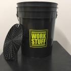 WORK STUFF Detailing Bucket Black - RINSE + separator czarny
