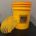 WORK STUFF Detailing Bucket Yellow - WASH + separator żółty