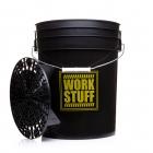 WORK STUFF Detailing Bucket Black - RINSE + separator czarny - wiadro