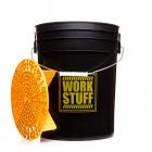 WORK STUFF Detailing Bucket Black - RINSE + separator żółty - wiadro