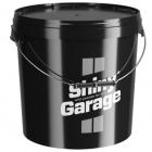Shiny Garage czarne wiadro 20L z pokrywką