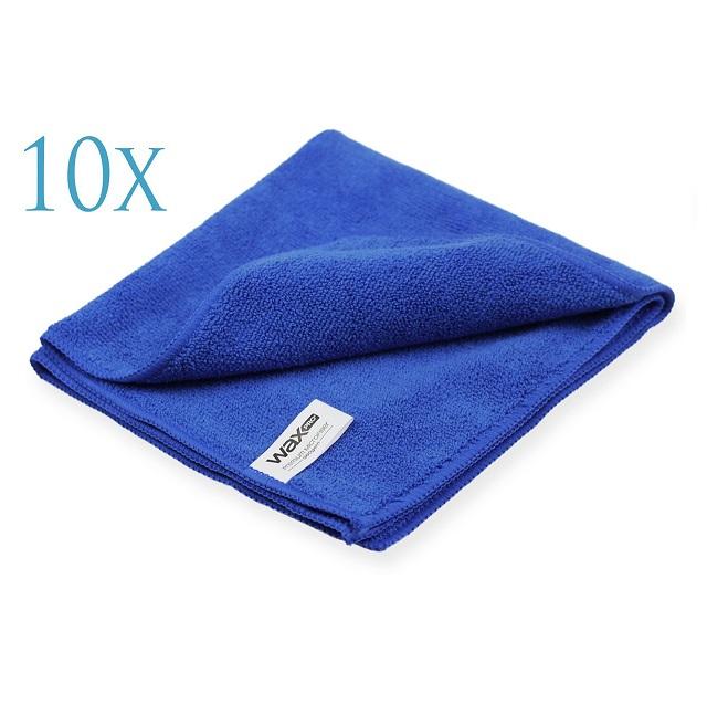 WaxPro Premium Microfiber Blue 40x40cm zestaw 10sztuk