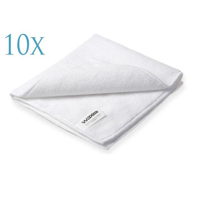 WaxPro Premium Microfiber White 40x40cm - 10 sztuk