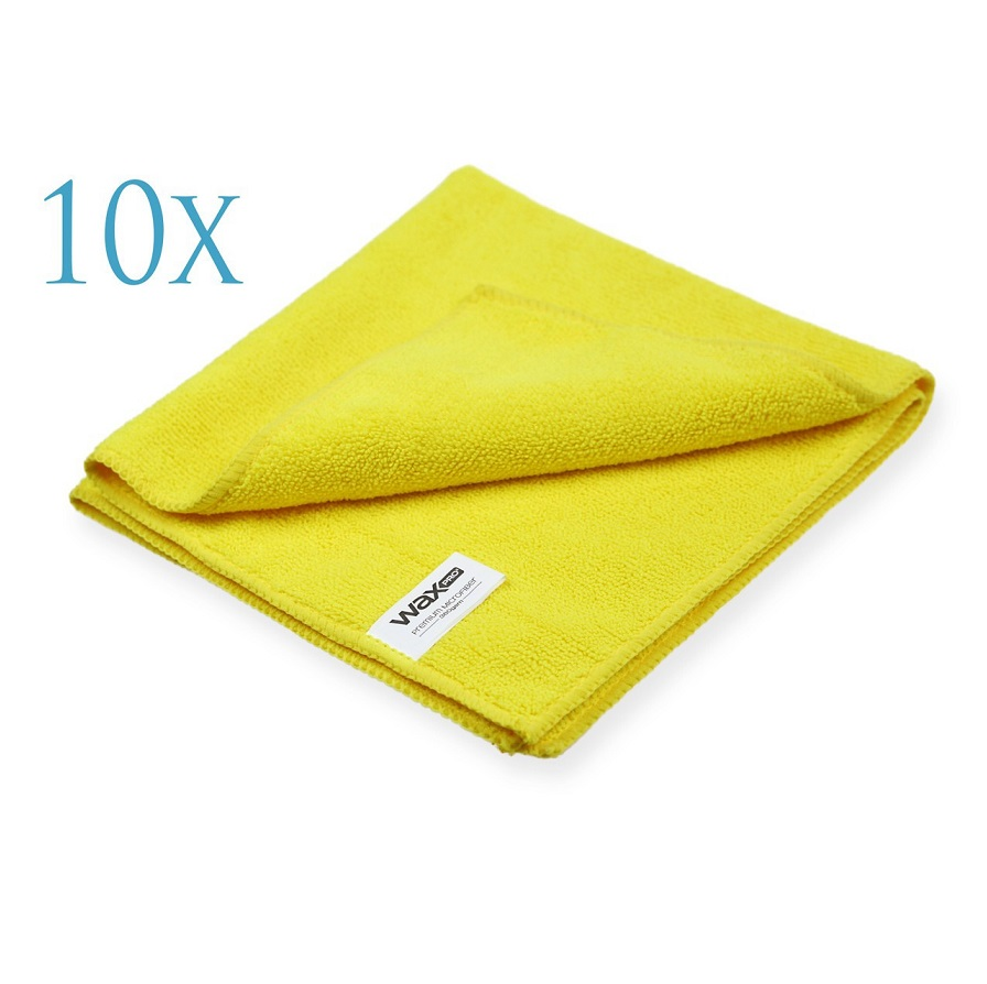 WaxPro Premium Microfiber Yellow 40x40cm zestaw 10sztuk
