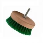 Auto Na Blask Carpet Brush Soft 95mm okragła szczotka na wiertarkę - zielona miękka