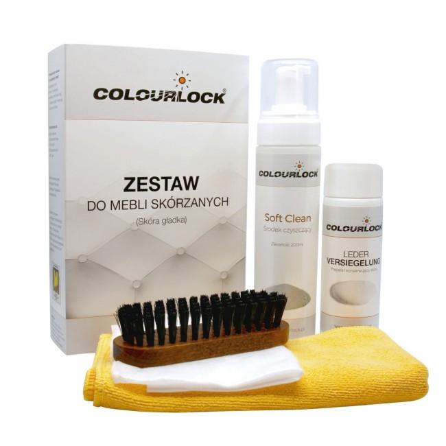 Colourlock Zestaw Soft do mebli - czyszczenie skóry gładkiej, meble skórzane